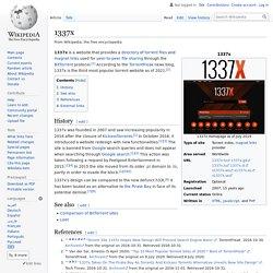 1337x - Wikipedia