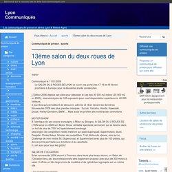 13ème salon du deux roues de Lyon - Lyon Communiqués