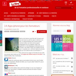 14 Apps iphone pour les formateurs