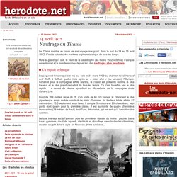 14 avril 1912 - Naufrage du Titanic