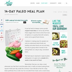 14 Days Paleo Meal Plan
