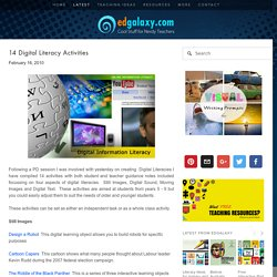 14 Digital Literacy Activities