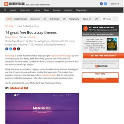 14 great free Bootstrap themes