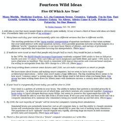 14 Wild Ideas