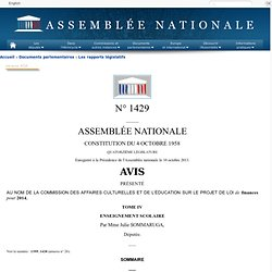 1429 tome IV - Avis sur le projet de loi de finances pour 2014 (n°1395)