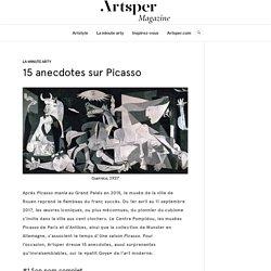 15 anecdotes sur Picasso