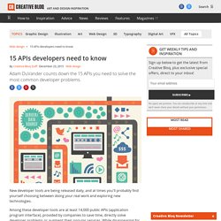 15 APIs developers need to know