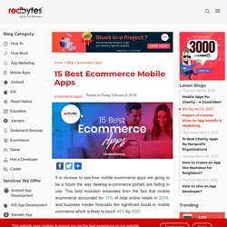 15 Best Ecommerce Mobile Apps