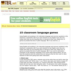15 classroom language games