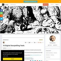 15 Digital Storytelling Tools