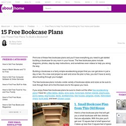 15 Free Bookcase Plans