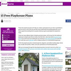 15 Free Playhouse Plans