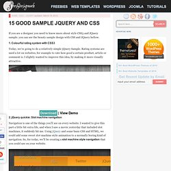 15 Good Sample JQuery and CSS