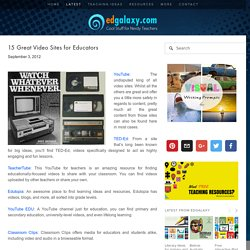15 Great Video Sites for Educators