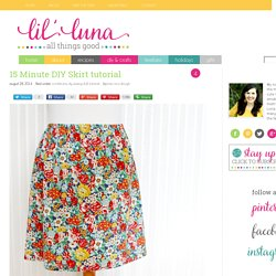 15 Minute DIY Skirt tutorial