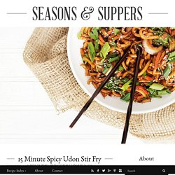 15 Minute Spicy Udon and Vegetable Stir Fry