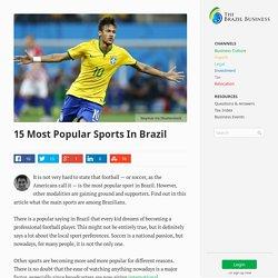 15 Most Popular Sports In Brazil