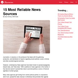 15 Most Reliable News Sources