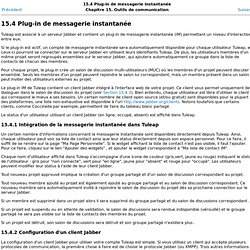 15.4 Plug-in de messagerie instantanée
