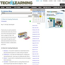 - 15 Sites for Creating Flashcards