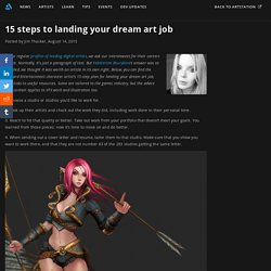 15 steps to landing your dream art job