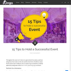 15 Tips to Hold a Successful Event