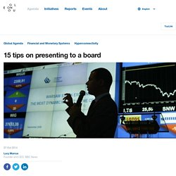 15 tips on presenting to a board