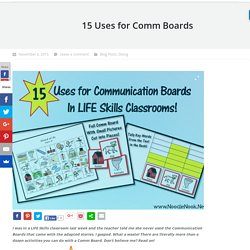 15 Uses for Comm Boards