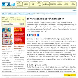 15 variations on a grammar auction