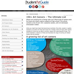 150+ Art Careers - The Ultimate List