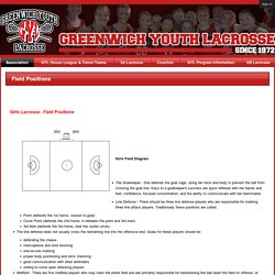 Greenwich Youth Lacrosse Tax ID #06-1500051Non-Profit 501(c)3 Organization