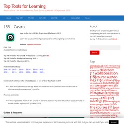 155 – Castro – Top Tools for Learning