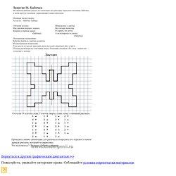 Графический диктант . Рисуем по клеточкам бабочку