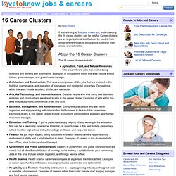 16 Career Clusters | LoveToKnow