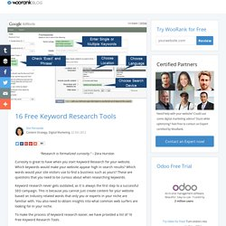 16 Free Keyword Research Tools