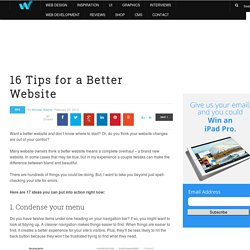 16 Tips for a Better Website