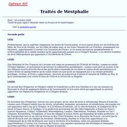 1648, Traité de Munster, Westphalie, MJP
