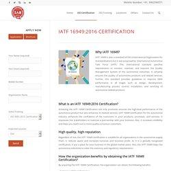 IATF 16949:2016 Certification – IAS Latin America