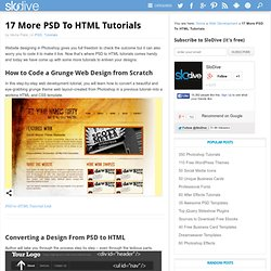 17 More PSD To HTML Tutorials