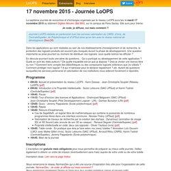 17 novembre 2015 - Journée LoOPS - LoOPS