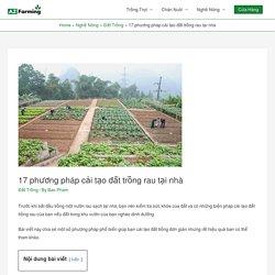 17 phương pháp cải tạo đất trồng rau tại nhà - AZ Farming
