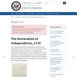 The Declaration of Independence, 1776 - 1776–1783