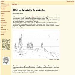 Bataille de Waterloo - Recit