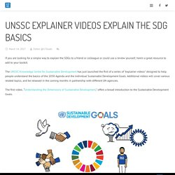 17Goals – UNSSC Explainer Videos Explain the SDG Basics