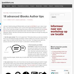 18 advanced iBooks Author tips