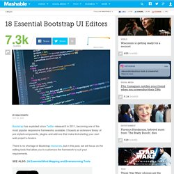 18 Essential Bootstrap UI Editors