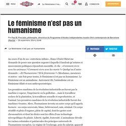 Le féminisme n'est pas un humanisme
