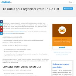 18 Outils pour organiser votre To-Do List →