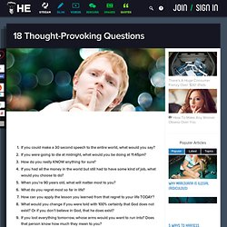 18 Thought-Provoking Questions