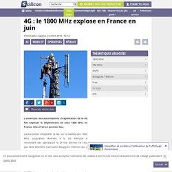 4G : le 1800 MHz explose en France en juin